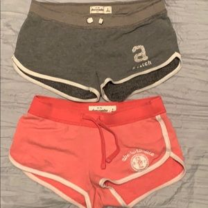 2 Abercrombie kids comfy shorts